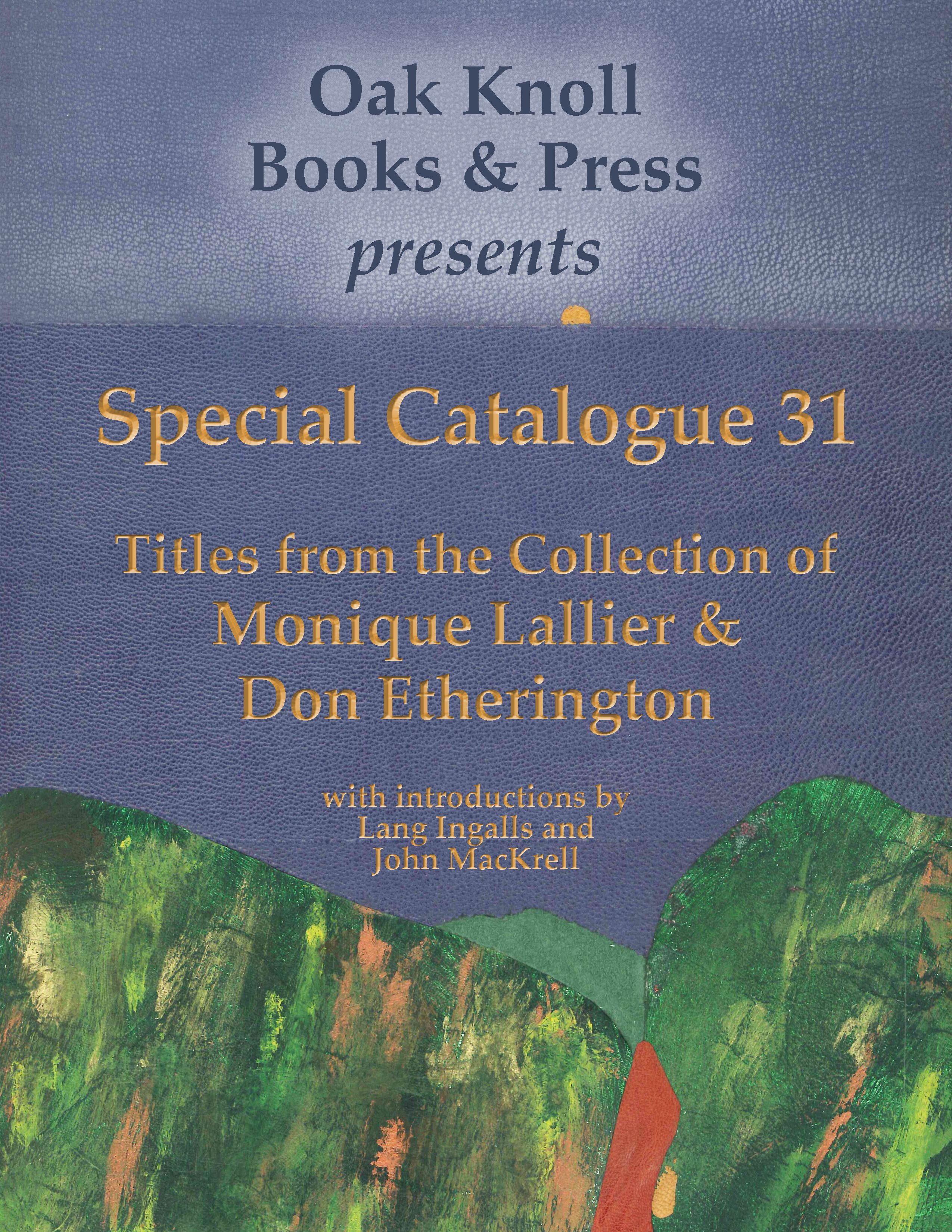 Special Catalogue #31: Titles from the Collection of Monique Lallier & Don Etherington