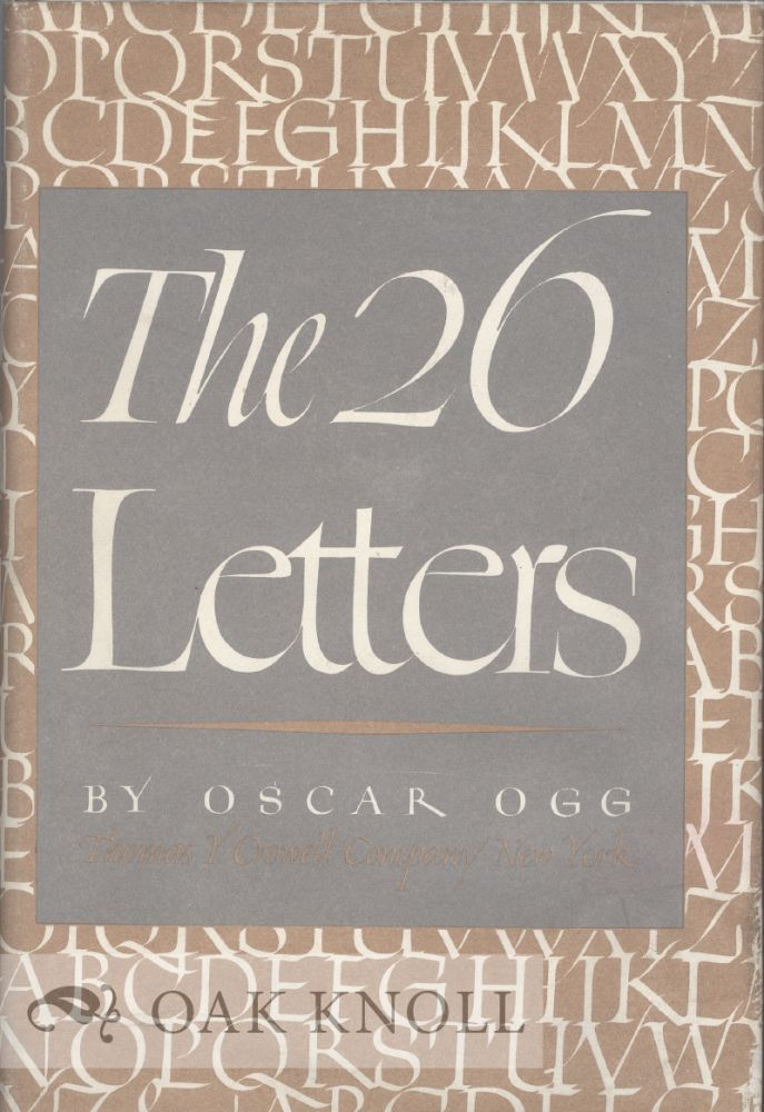 The 26 letters oscar ogg Calligraphy baltimore