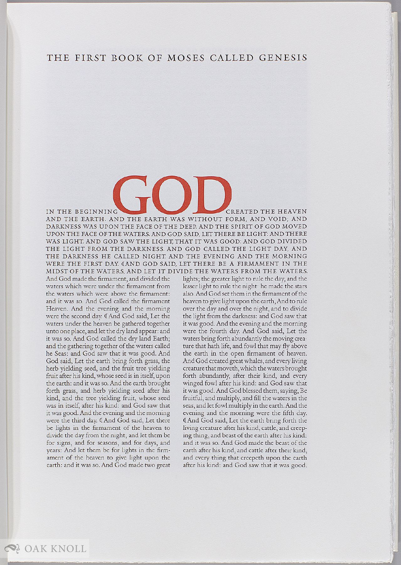 THE PRIVATELY PRINTED BIBLE: PRIVATE AND FINE PRESS PRINTINGS OF BIBLICAL  TEXTS, 1892-2000 by Ronald Patkus on Oak Knoll