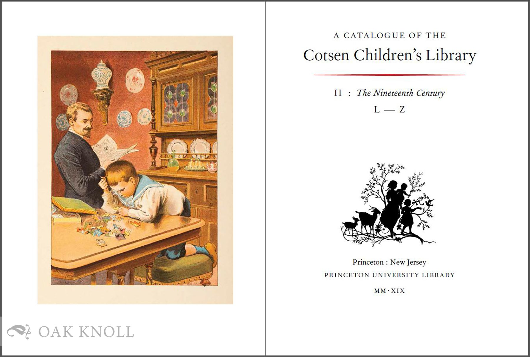 CATALOGUE OF THE COTSEN CHILDREN'S LIBRARY: THE TWENTIETH CENTURY VOLS  I &  II AND THE NINETEENTH CENTURY VOLS I & II on Oak Knoll