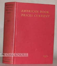 AMERICAN BOOK-PRICES CURRENT. 1970-1974