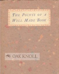 POINTS OF A WELL MADE BOOK