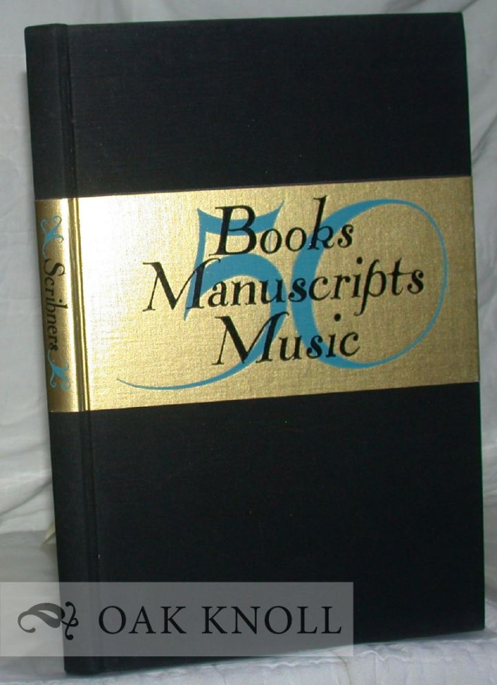 50 BOOKS, MANUSCRIPTS, MUSIC. 111.