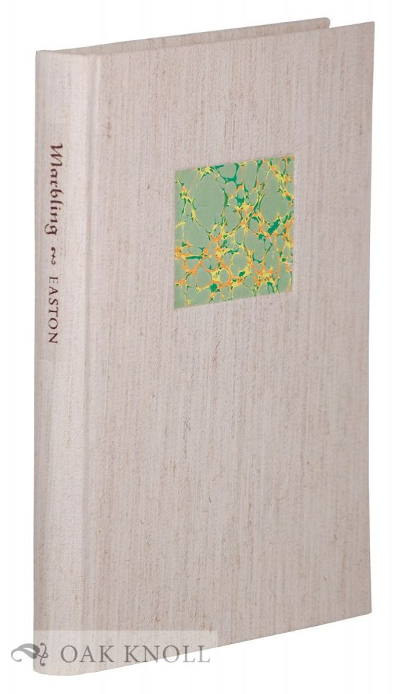 MARBLING, A HISTORY AND A BIBLIOGRAPHY. Phoebe Jane Easton.