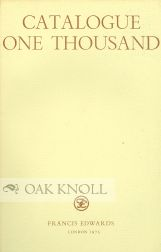 CATALOGUE ONE THOUSAND PUBLISHED DECEMBER 1975. A. K. Russell.