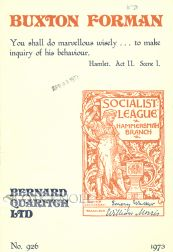 A CATALOGUE OF BOOKS AND PAMPHLETS FROM THE LIBRARY OF MAURICE BUXTON FORMAN.