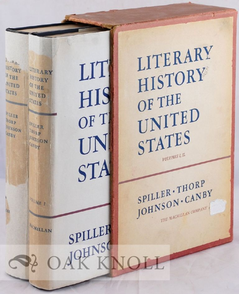 LITERARY HISTORY OF THE UNITED STATES. BIBLIOGRAPHY. SUPPLEMENT. Robert E. Spiller.