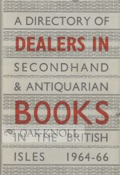 A DIRECTORY OF DEALERS IN SECONDHAND, 1964-1966.