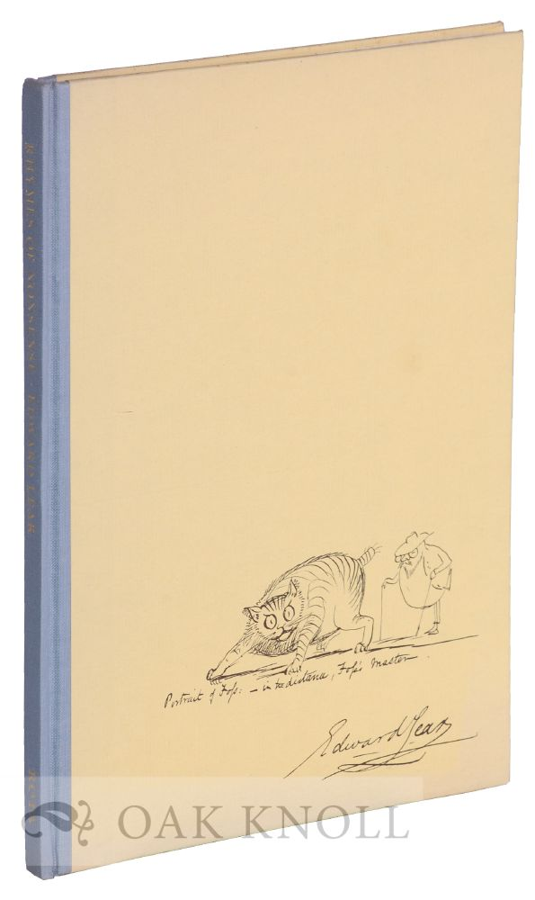 RHYMES OF NONSENSE, AN ALPHABET BY EDWARD LEAR. Philip Hofer.