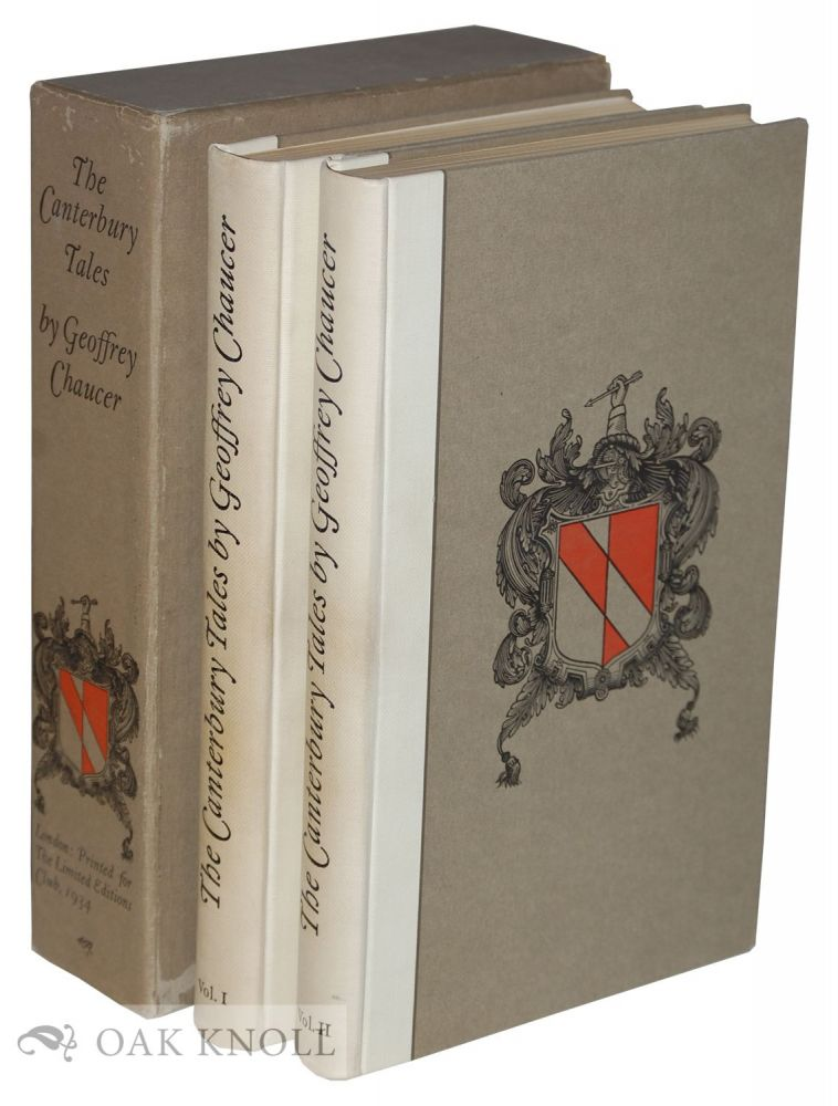 CANTERBURY TALES. Rendered into Modern English Verse by Frank Ernest Hill. Geoffrey Chaucer.