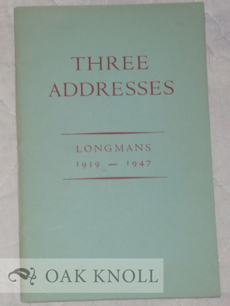 Three Addresses An Essay In Publishing Ecology By Indiaman Three Addresses An Essay In Publishing Ecology By Indiaman