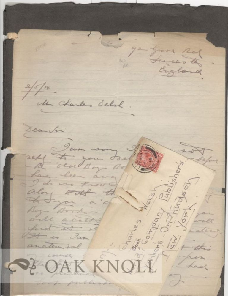 TWO ONE PAGE CARBON COPIES OF LETTERS TO HAROLD SIMPSON OF ENGLAND. Charles Welsh.