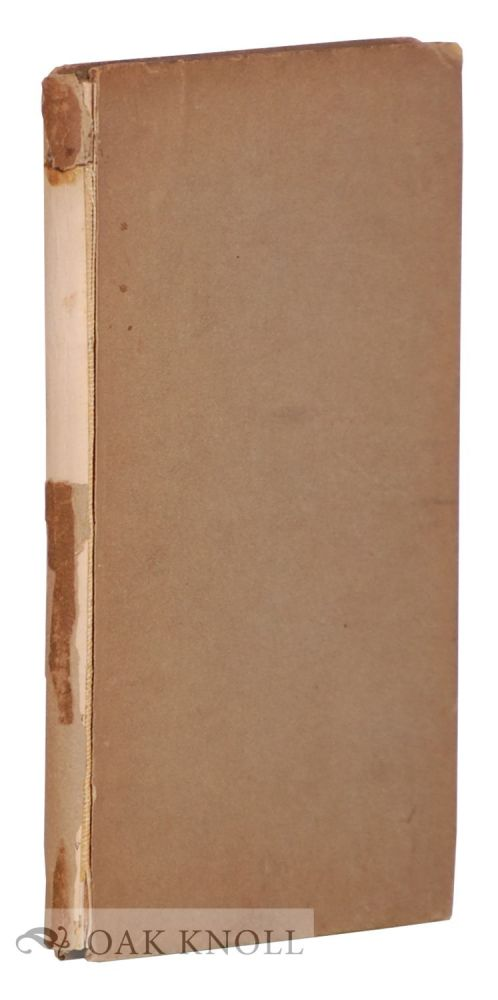 PAULINE; A FRAGMENT OF A CONFESSION BY ROBERT BROWNING. A REPRINT OF THE ORIGINAL EDITION OF 1833. Thomas J. Wise.