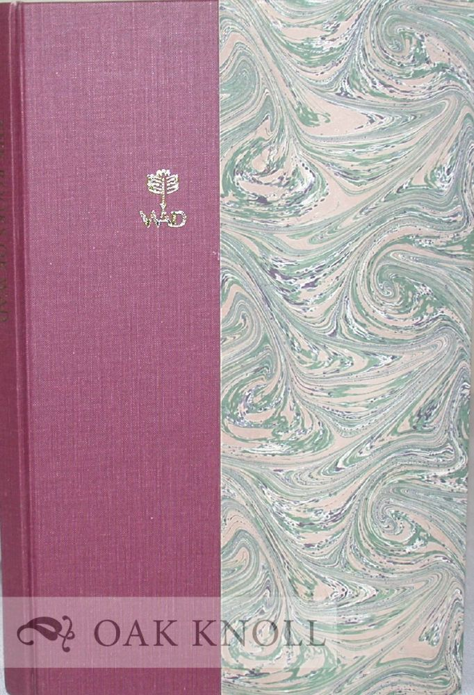 THE BOOKS OF WAD, A BIBLIOGRAPHY OF THE BOOKS DESIGNED BY W.A. DWIGGINS. Dwight Agner.