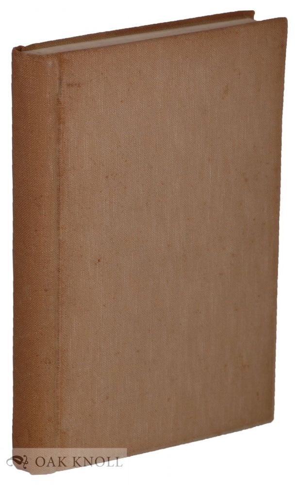 BOOKBINDING FOR AMATEURS BEING DESCRIPTIONS OF THE VARIOUS TOOLS AND APPLIANCES REQUIRED AND MINUTE INSTRUCTIONS FOR THEIR EFFECTIVE USE. W. J. E. Crane.