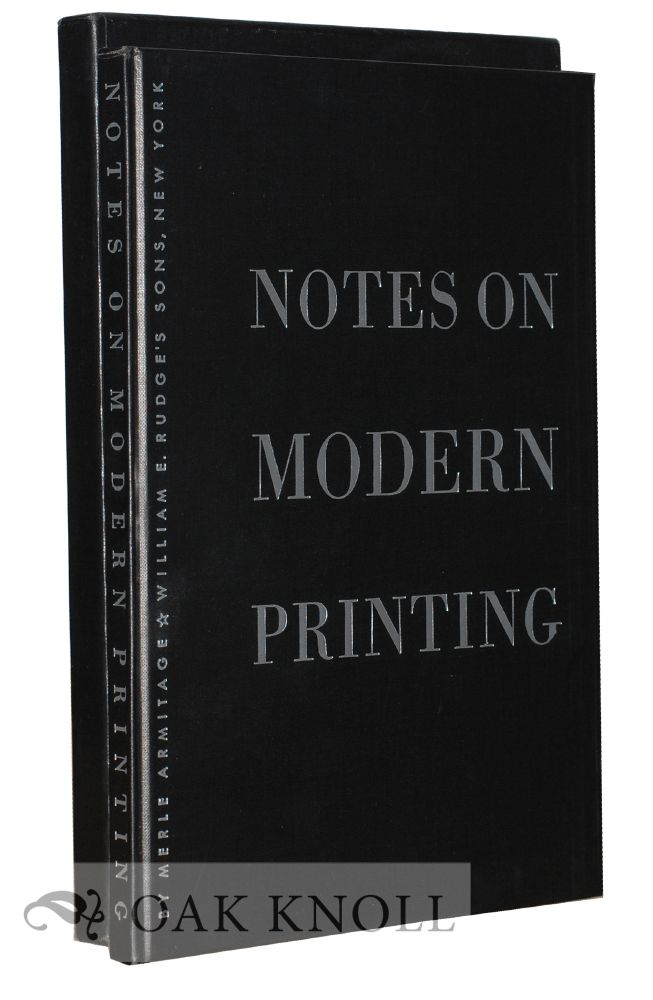 NOTES ON MODERN PRINTING. Merle Armitage.
