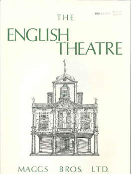 THE ENGLISH THEATRE, A CATALOGUE OF PLAYS, THEATRICAL LITERATURE AND DRAMATIC CRITICISM, FROM THE RESTORATION TO 1800. 1022.