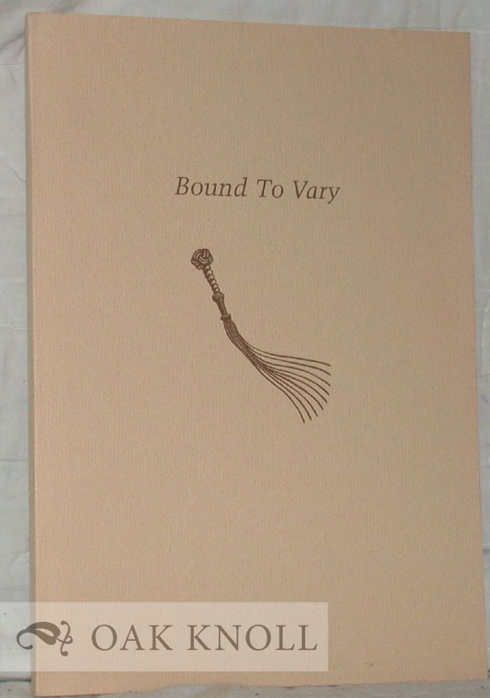BOUND TO VARY, A GUILD OF BOOK WORKERS EXHIBITION OF UNIQUE FINE BINDINGS ON THE MARRIED METTLE PRESS LIMITED EDITION OF BILLY BUDD, SAILOR.
