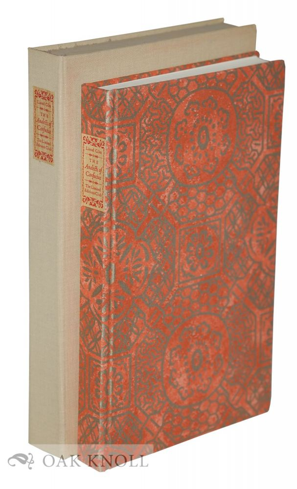 THE ANALECTS OF CONFUCIUS. Confucius.