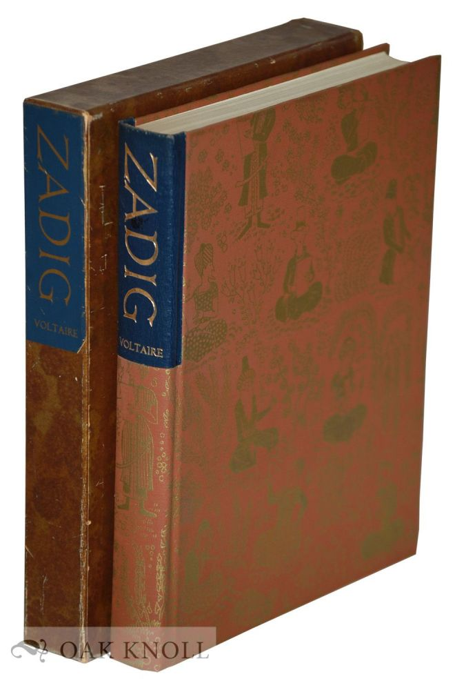 THE HISTORY OF ZADIG OR, DESTINY, AN ORIENTAL TALE. Francois Marie Arouet De Voltaire.