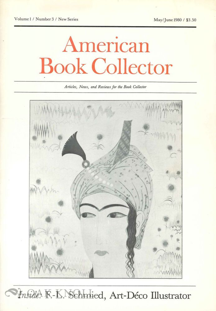 AMERICAN BOOK COLLECTOR, NEW SERIES