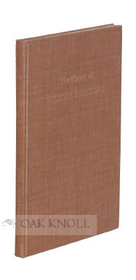 THE LIBRARY OF WILLIAM CONGREVE. John C. Hodges.