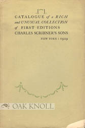 A CATALOGUE OF FIRST EDITIONS.