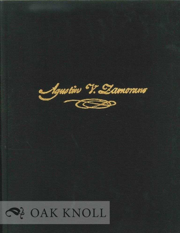 A COPYBOOK FROM THE HAND OF AGUSTIN V. ZAMORANO.
