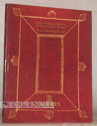 PRINTED BOOKS AND MANUSCRIPTS FROM THE ESTATE OF JOHN F. FLEMING.
