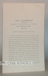 ADDRESS DELIVERED AT THE FUNERAL OF MRS. IRENE S. DU P. DIMMICK. Alfred Lee.