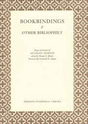 BOOKBINDINGS & OTHER BIBLIOPHILY. Dennis E. Rhodes.