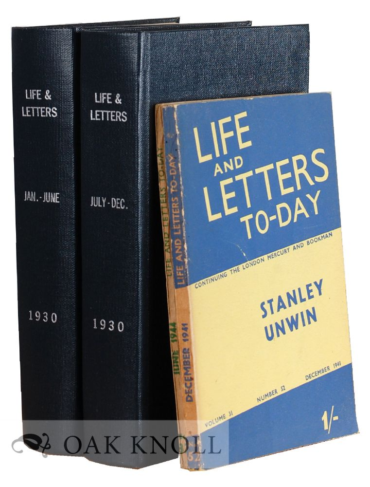 LIFE AND LETTERS.