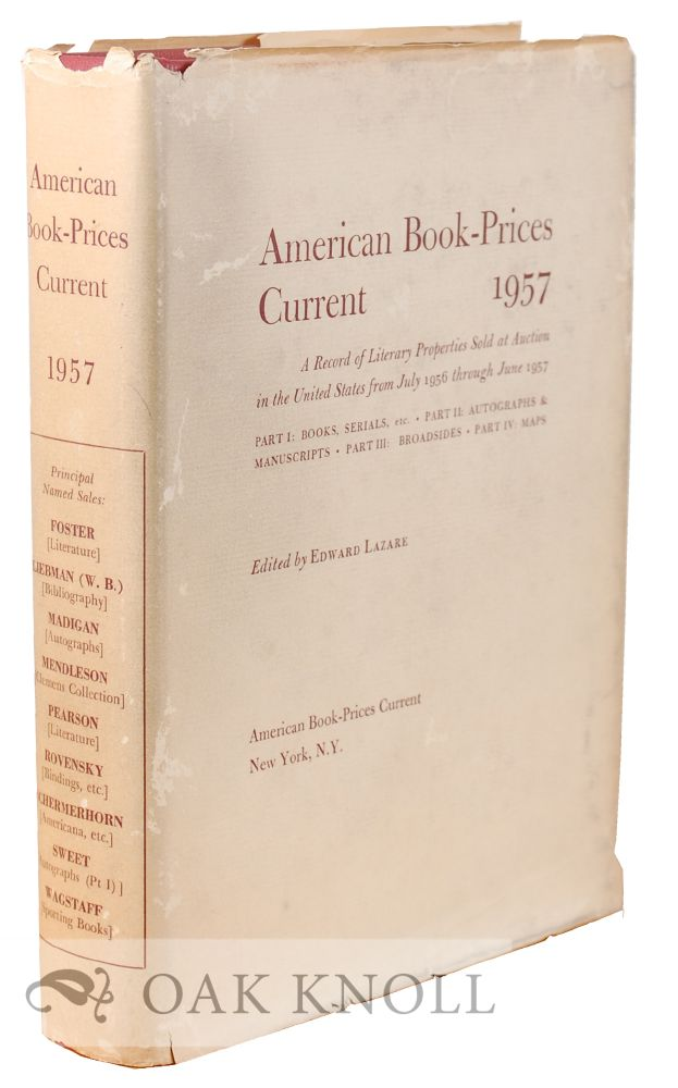 AMERICAN BOOK-PRICES CURRENT.