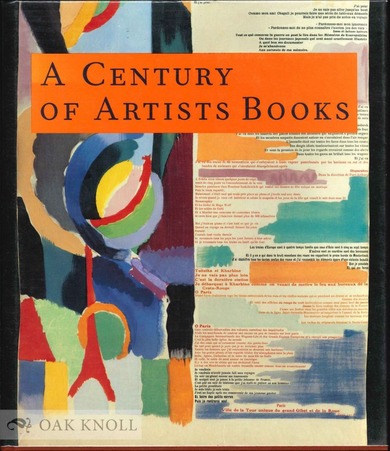 A CENTURY OF ARTISTS BOOKS. Riva Castleman.