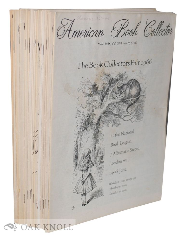 AMERICAN BOOK COLLECTOR (THE).