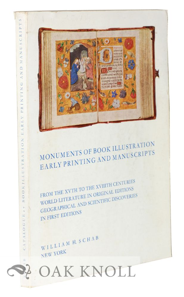 MONUMENTS OF BOOK ILLUSTRATION, EARLY PRINTING AND MANUSCRIPTS. 27.