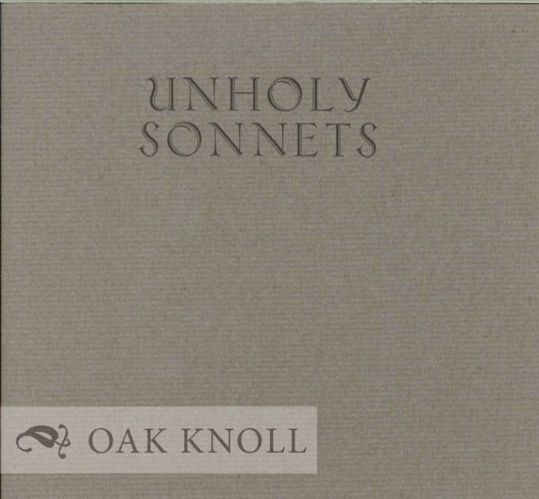 UNHOLY SONNETS. Mark Jarman.