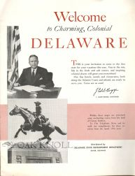 WELCOME TO CHARMING, COLONIAL DELAWARE. J. Caleb Boggs.