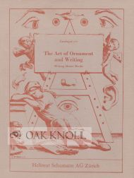 THE ART OF ORNAMENT AND WRITING: WRITING MASTER BOOKS.