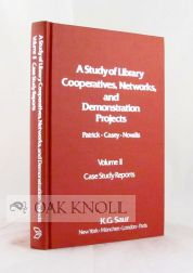 A STUDY OF LIBRARY COOPERATIVES, NETWORKS, AND DEMONSTRATION PROJECTS. Ruth J. Patrick, Joseph Casey, Carol M. Novalis.