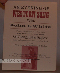 AN EVENING OF WESTERN SONG.