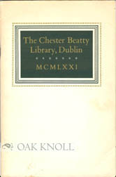 THE CHESTER BEATTY LIBRARY, DUBLIN. R. J. Hayes.