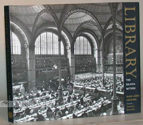 THE LIBRARY, THE DRAMA WITHIN. Daniel J. Boorstin.