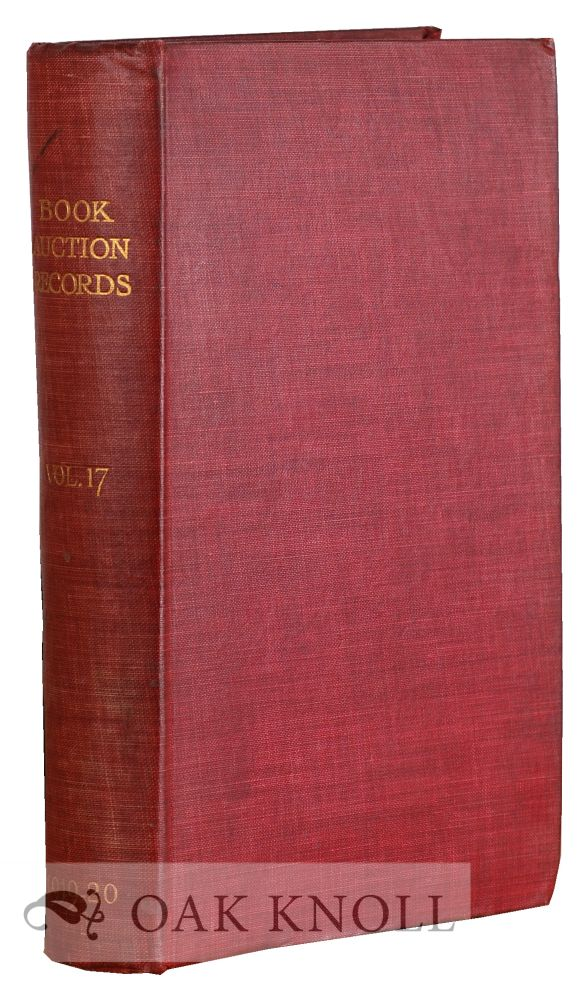 BOOK-AUCTION RECORDS.