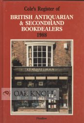COLE'S REGISTER OF BRITISH ANTIQUARIAN & SECONDHAND BOOKDEALERS.