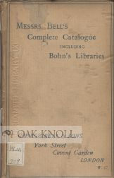 A COMPLETE CATALOGUE OF BOOKS.