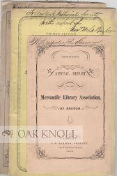 ANNUAL REPORT OF THE MERCANTILE LIBRARY ASSOCIATION OF BOSTON.