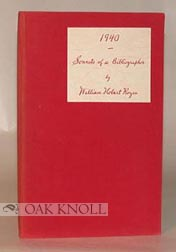 1940, SONNETS OF A BIBLIOGRAPHER. William Hobart Royce.