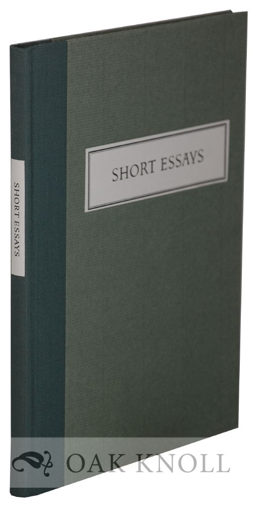 SHORT ESSAYS. Francis Bacon.