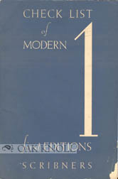 CHECK LIST OF MODERN FIRST EDITIONS.